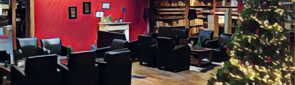 Cigarworld Lounge Weihnachten gemalt